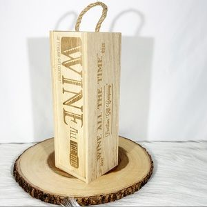 Wine All Of The Time Wooden Box With Candle